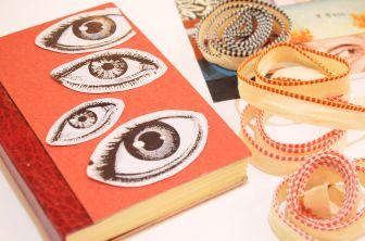 Oficina de Encadernação Livro artesanal com colagens na capa com a Fuzina (17)