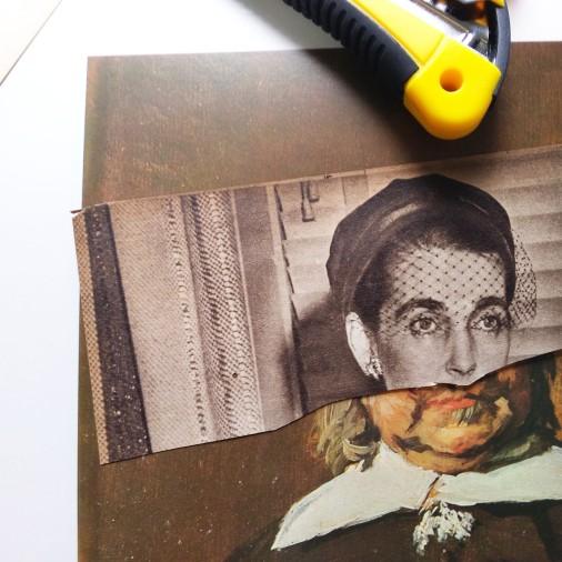 Oficina de Zine e Colagem com o Selo autopublicação independente Experimentos Impressos em Porto Alegre. A convite de Fuzina Oficinas.